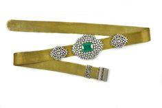 Gem Palace gold waist belt set with diamonds and rubies.