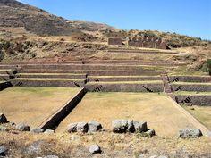 Grass terraces at Tipon, Peru