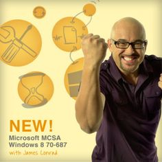 "Ready to take the first step toward earning the MCSA: Windows 8 certification? CBT Nuggets is pleased to announce a new video training series, ""Microsoft MCSA Windows 8 70-687."""