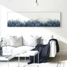 Buy Nordic Decor Foggy Forest Landscape Wall Art Poster Canvas Art Print Forest Painting Wall Picture for Living Room Forest Landscape, Landscape Walls, Landscape Prints, Landscape Paintings, Home Wall Art, Wall Art Decor, Canvas Art Prints, Canvas Wall Art, Living Room Canvas Art