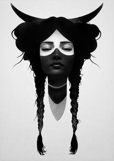 Windway Warrior Clear Acrylic Box by Ruben Ireland - 4 X 4 X 3 Digital Portrait, Portrait Art, Portraits, Art And Illustration, Art Sketches, Art Drawings, Painter Artist, Desenho Tattoo, Belle Photo