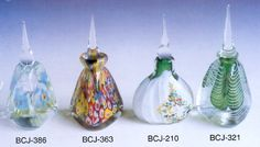 colorful perfume bottles with glass cap