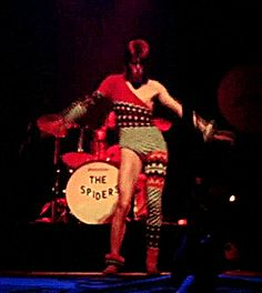 Ziggy Stardust, demonstrating the sacred Martian magic dance for making everyone within a 50 mile radius instantly and irreparably turned on.