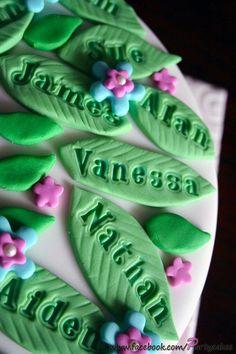 family tree cakes | Family Tree 80th Birthday Cake | Flickr - Photo Sharing!