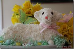 Easter Lamb Cake-Aunt Jeri used to make these for us Easter Egg Crafts, Easter Treats, Easter Eggs, Lamb Cake, Easter Lamb, Easter Parade, Spring Sign, Easter Celebration, Easter Brunch