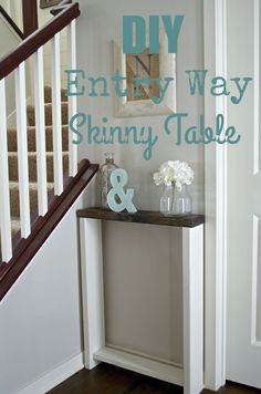Entry Way Skinny Table - The Hatched Home