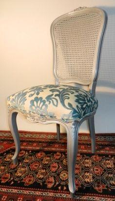 silla vintage Luis XV talla plata