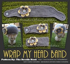 Ravelry: Wrap My Head Band Crochet Pattern pattern by Darla Allen..Thinking the poor model needs more than A WRAP..HE HE