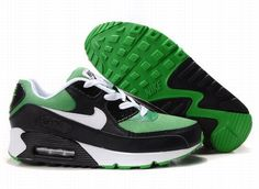 Ken Griffey Shoes Nike Air Max 90 Green Black White [Nike Air Max 90 - Green mesh and black synthetic leather make the upper become breathable and durable. These Nike Air Max 90 Green Black White kicks feature pure white cotton laces, tongue label, te Nike Running Shoes Women, Nike Free Shoes, Nike Shoes Outlet, Nike Women, Nike Air Max White, Cheap Nike Air Max, Zapatillas Nike Air, Nike Air Huarache, Nike Lebron