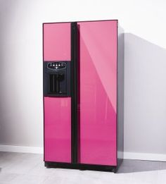 The CAFF22 American Style Fridge Freezer in Pink - from Caple    If I was rich!!