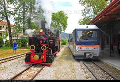 The very first test run after restoration of the steam locomotive ΔΚ 8001, just after delivered to OSE. » Kalavrita station, Diakofto-Kalavrita rack line, Peloponnese, Hellas   » Diakofto-Kalavrita, Greece