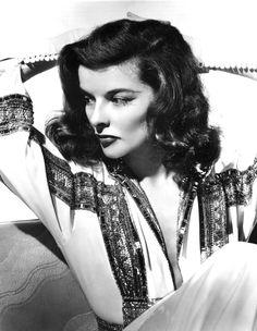 Katharine Hepburn Circa 1935  Love that makeup...