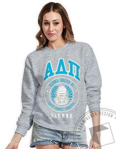 Alpha Delta Pi - Alumna Vintage Crew Neck Sweatshirt by ABD BlockBuy! Available until 5/28, $15-$20| Adam Block Design | Custom Greek Apparel & Sorority Clothes |www.adamblockdesign.com