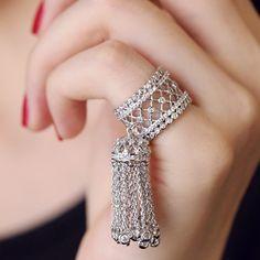 Beautiful Tassel Pinkie Adjustable Joint Ring