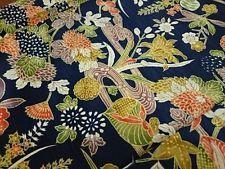 Vintage Japanese Kimono Women KOMON Silk Plant Multi-Color F/S K16030082