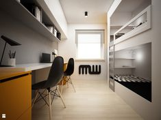 Pokój dziecka - zdjęcie od BIG IDEA studio projektowe - Pokój dziecka - BIG IDEA studio projektowe Open Shelving, Home Office, Studio, Furniture, Design, Home Decor, Kids Rooms, Bedroom Ideas, Teen