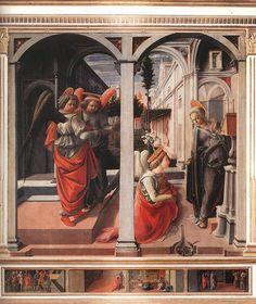 Filippo Lippi. San Lorenzo. Firenze. Annunciazione.  1445