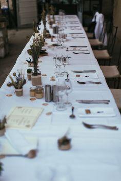 Table des mariés ; centre table ; blé ; lavande ; vintage Fleuriste : Shopping Flor (Nice) © Reego Photographie