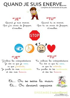 QUAND JE SUIS ENERVE comptine French Teaching Resources, Teaching French, Anger Management, Classroom Management, Learn French, French Language, Positive Attitude, Primary School, Problem Solving