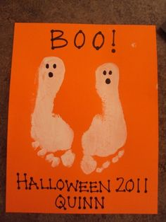 Halloween footprint art!