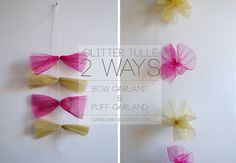 DIY Glitter Tulle Garlands by s. jane!, via Flickr
