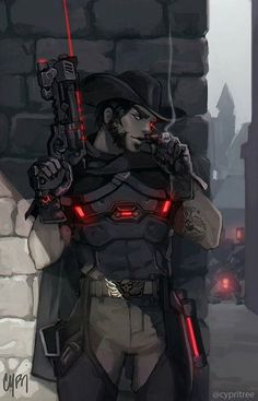 Blackwatch McCree Overwatch Digital laser print on coated 100 lb matte text paper. Full bleed inches ( x cm ). XL Poster: Digital laser printed on uncoated matte paper. Full bleed inches ( x cm ). Watermark will not be on actual print. Overwatch Comic, Overwatch Memes, Overwatch Fan Art, Overwatch Digital, Fanart Overwatch, Overwatch Reaper, Blackwatch Mccree, Character Inspiration, Character Art