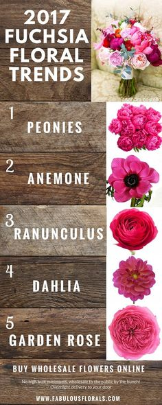 2017 fuchsia wedding flower trends!