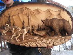 wood burned and carved animals Wood Carving Designs, Wood Carving Patterns, Wood Burning Art, Art Carved, Wooden Art, Whittling, Wood Engraving, Wood Sculpture, Wood Crafts