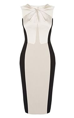 Knot neckline dress
