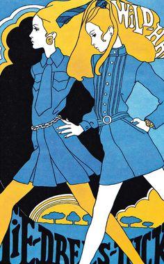 Vintage 1960s Fashion Illustration by Antonio Lopez
