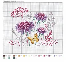 62 Trendy ideas for embroidery designs free lace flowers Butterfly Cross Stitch, Cross Stitch Love, Cross Stitch Borders, Cross Stitch Flowers, Cross Stitch Charts, Cross Stitch Designs, Cross Stitching, Cross Stitch Embroidery, Embroidery Patterns