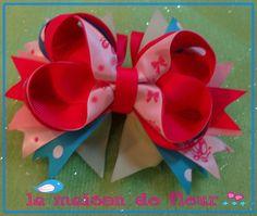 ballet Layered Ribbon Hairbow