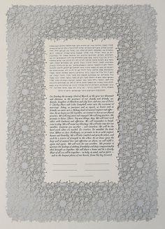 The CASABLANCA papercut ketubah / wedding vows by RuthMergi