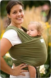 Sleepy Wrap....I love this for the first year.  I have tried almost every baby carrier out there and this is my fav.