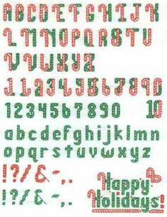 Free Christmas Cross Stitch Alphabet