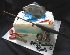fishing cake.  Ice fishing cake with chocolate details | Flickr - Photo Sharing!