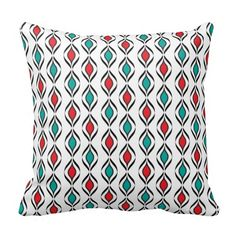#Retro #Fun #Pattern  #Pillow #zazzlebesties #zazzle #decor #shopping #trendy