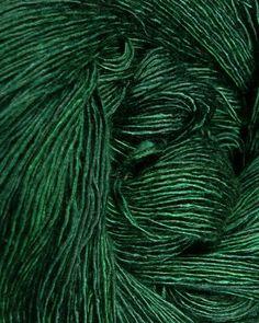 dark green yarn