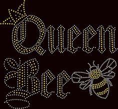 "Womens ""Queen Bee"" Rhinestone Ladies Shirt by JuldenDesigns on Etsy"