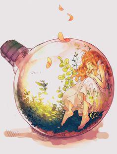 Картинка с тегом «anime, art, and anime girl»