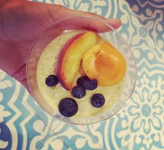 #creme #vanille #dessert #gourmet #bon #good #food #organic #peaches #violet #paris #larecolte