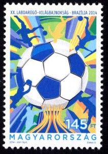 Stamps of Hungary: Football World Cup (2014)    Foci_vb_2014-212x30Hungary world Cup