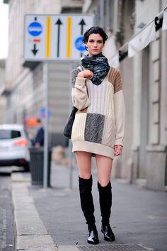 Milan – Manon Leloup. Italy, @ManonLeloup, Milan Fashion Week © Wayne Tippetts
