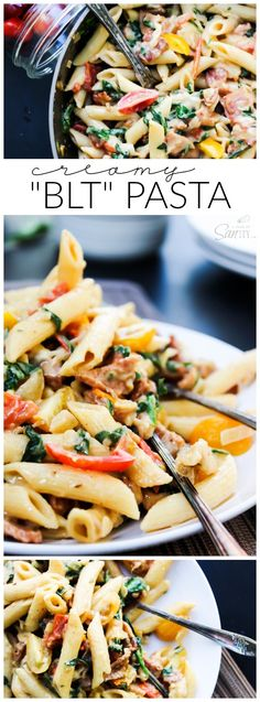 Creamy BLT Pasta - easy, delicious 30 minute meal