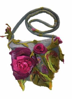 """Rosen""  Filztasche  gefilzt UNIKAT von Style for you auf DaWanda.com"