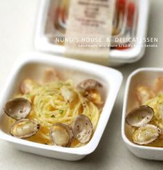 Nunu's House - miniature takeaway pasta