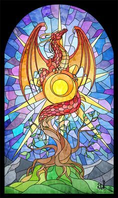 dragon stained glass window - Google Search