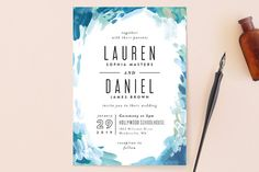 """Gallery Abstract Art"" - Wedding Invitations in Ocean by Alethea and Ruth."