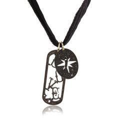 Mizuki Silver Fancy Love Tag and Diamond Starburst Silk Charm Necklace: Jewelry: Amazon.com