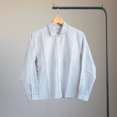 Button Shirt #blue stripe